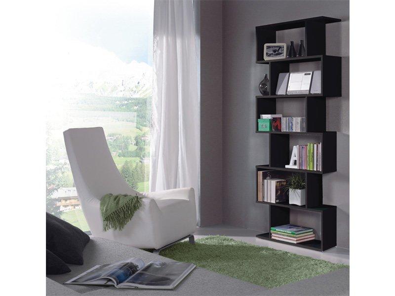 Estantería moderna para salón-comedor de diseño en color negro
