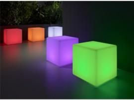 Puff cubo con luz led