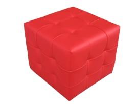 Pouff en forma de cubo capitoné