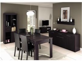 Mueble para televisi n plana en color wengu con oferta for Muebles de oficina color wengue