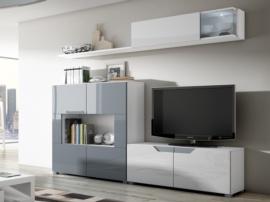 Muebles para el salón modulares y apilables con estantería
