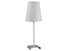 Lámpara mesa plata20x20x56 cm