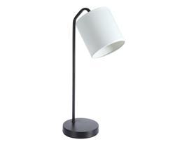 Lámpara metal blanca 14x14x51 cm