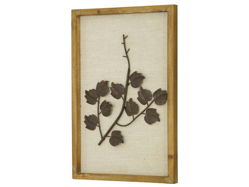 Cuadro hojas met lica a 30x3x45cm for Santiago pons decoracion