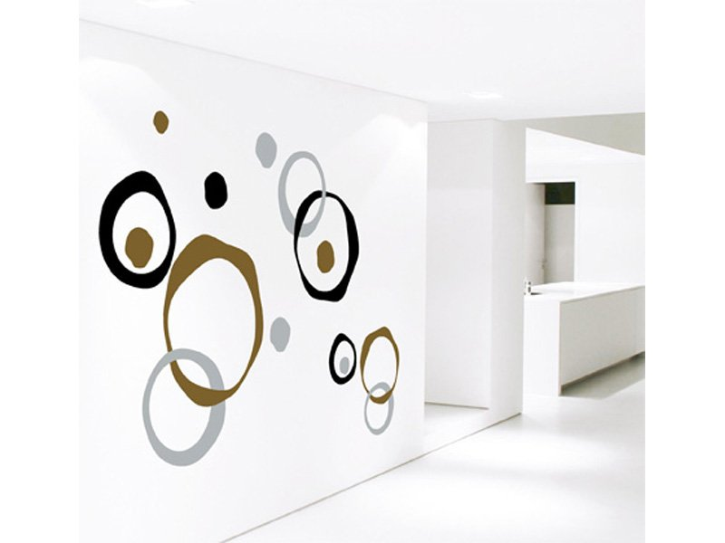 Vinilo moderno decoración, pegatina pared en círculos para pared