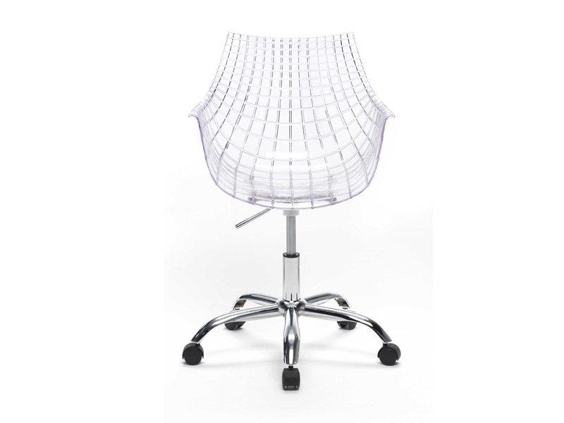 Silla de oficina moderna, silla transparente de diseño con ruedas