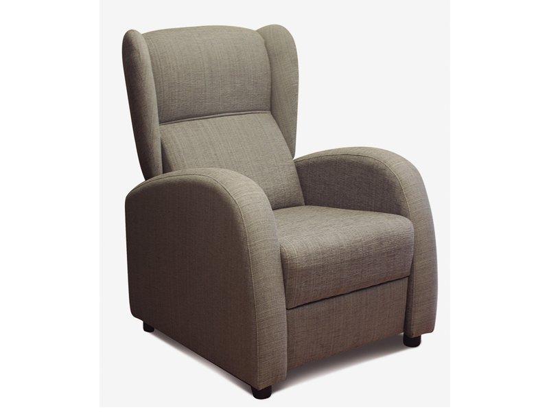 Sill n orejero abatible oferta de butaca tapizada en colores for Ofertas de sillon cama