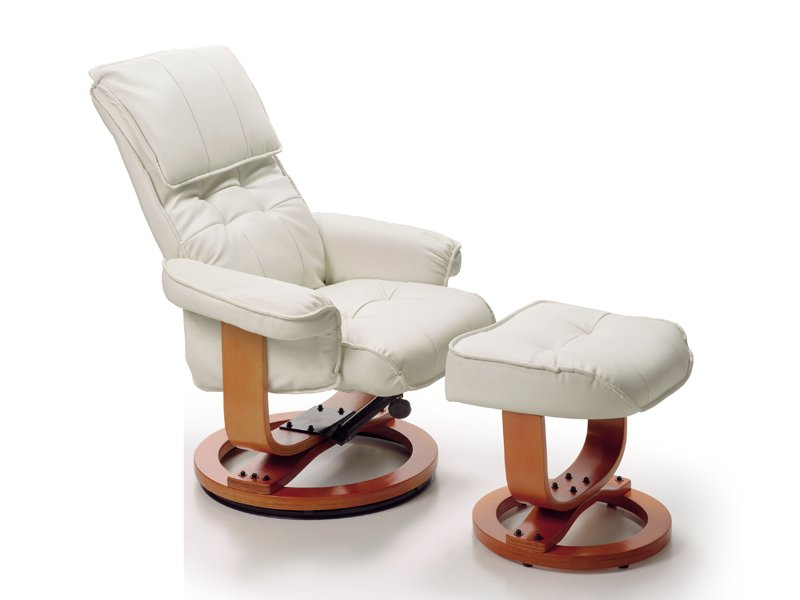 Sill n de relax con base giratoria beige de estilo cl sico - Sofas y sillones relax ...