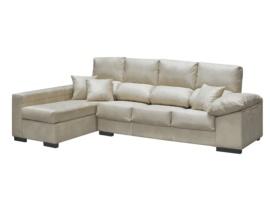 Sofá chaise longue de 4 plazas asiento deslizante y respaldo reclinable.