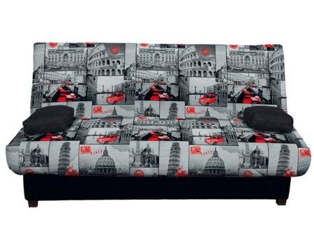 sof cama color plata comprar sof cama con apertura clic clac. Black Bedroom Furniture Sets. Home Design Ideas