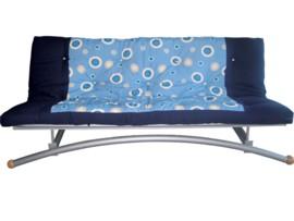 Sofá cama individual azul