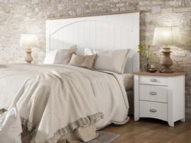 Dormitorio romántico blanco-olmo