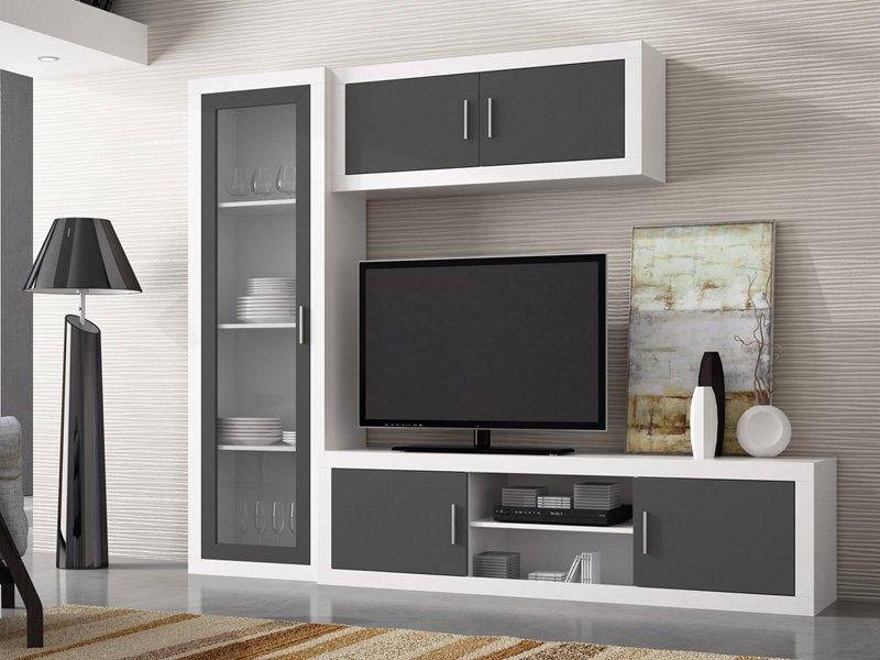 mueble en blanco, mueble en negro, mueble blanco salon, mueble negro