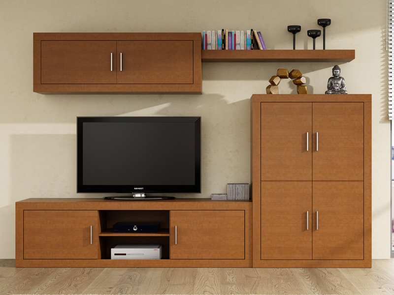 mueble apilable de comedor moderno bajo con cuatro puertas