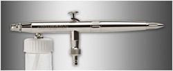 Aerógrafo Evolution Silverline M: boquilla 0,4 mm, depósito de 5 ml, color ajustable