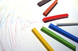 Conté carres: Tizas color y esbozo