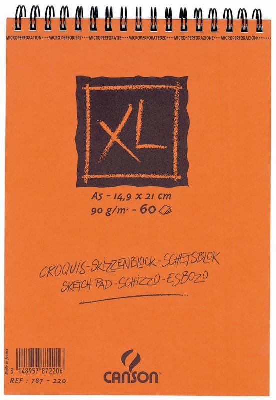 """Bloc de dibujo """"XL"""" de 60 hojas en espiral de 42 x 59,4 cm (A2 ..."""