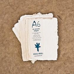 Pack de 100 hojas de acuarela Khadi de 11 x 15 cm, 320 gr/m2, grano grueso