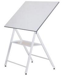 Mesa de dibujo plegable con bandeja, con movimiento del tablero de horizontal hasta vertical