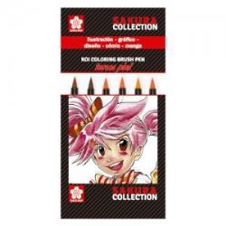 Sakura: estuche con 6 rotuladores punta pincel