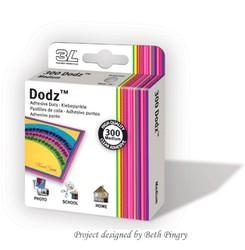 300 puntos adhesivos transparentes