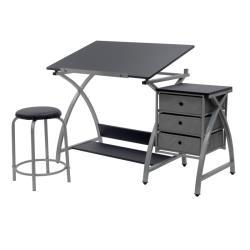 Studio Design: mesa de dibujo con cajonera y taburete