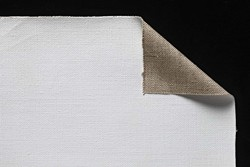 Tela lino belga Claessens: 2,10 x 10 metros: preparación óleo/acrílico: grano medio/grueso