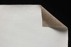 Tela lino belga Claessens: 2,10 x 10 metros: preparación óleo: grano medio/grueso