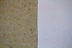 Tela algodón: 2,10 x 10 metros: preparación óleo/acrílico: grano grueso: 330 gr/m2