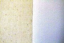 Tela algodón: 2,10 x 1 metro: preparación óleo/acrílico: grano fino/medio