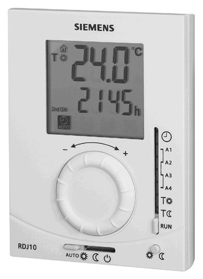 Siemens RDJ10 programmable thermostat