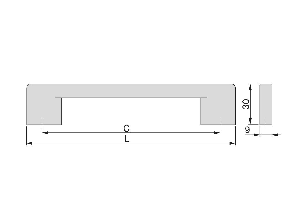 Tirador Stockholm con intereje 128mm - Ítem1