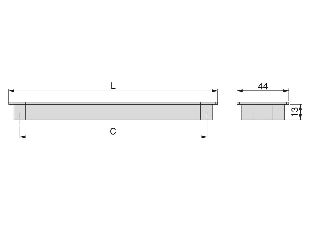 Tirador Halle 178mm. con intereje 128 mm - Ítem1