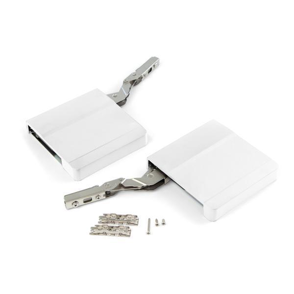 Compás para puerta elevable Agile Emuca L color blanco