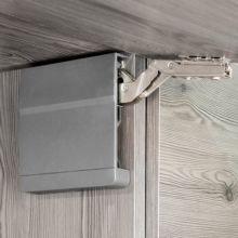 Emuca Compás para puertas elevables, fuerza 960-2040, Acero y plástico, Gris antracita - Ítem3