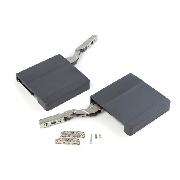 Emuca Compás para puertas elevables, fuerza 960-2040, Acero y plástico, Gris antracita