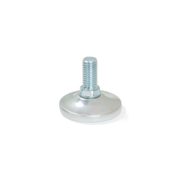 Lote de 10 pies niveladores con base circular M10 Emuca D. 43 mm