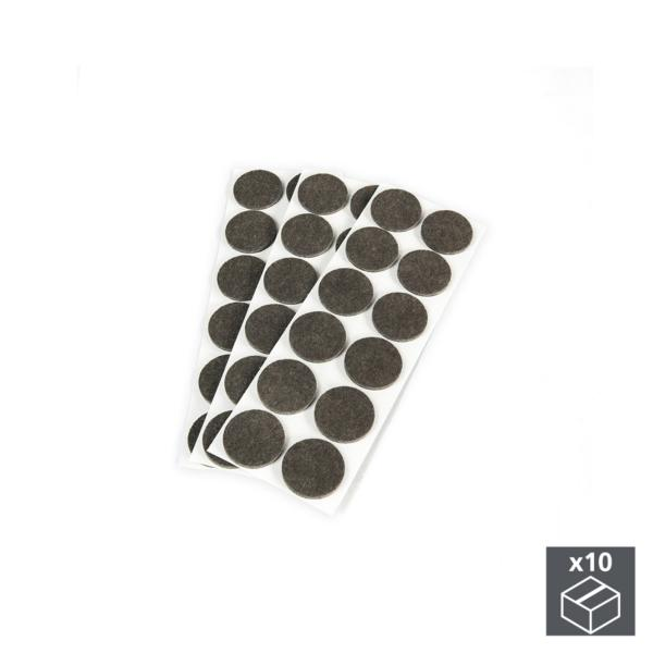Emuca Fieltro adhesivo para muebles, redondo, D. 40 mm, 360 ud.
