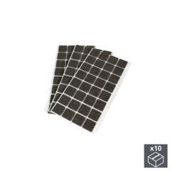 Emuca Fieltro adhesivo para muebles, cuadrado, 25x25 mm, 960 ud.