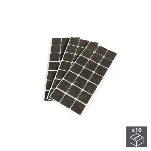 Emuca Fieltro adhesivo para muebles, cuadrado, 30x30 mm, 630 ud.