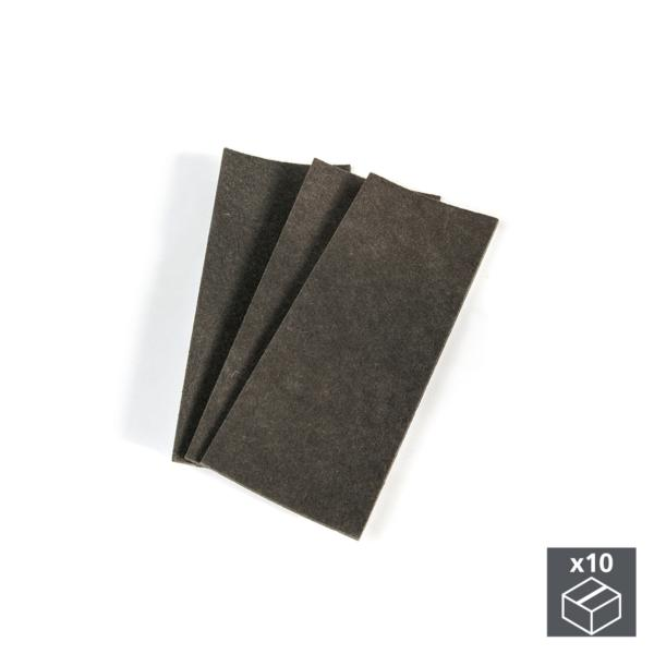 Emuca Fieltro adhesivo para muebles, rectangular, 100x250 mm, 30 ud.