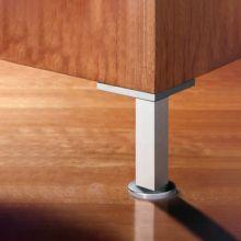 Kit de 4 pies Prisma Emuca para mueble, altura 90 mm en aluminio anodizado mate - Ítem4