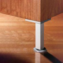 Emuca Kit pie nivelador para mueble, cuadrado, regulable 150-160 mm, Aluminio, Anodizado mate, 4 ud. - Ítem5