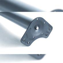 Kit de 4 patas de mesa regulables Emuca D. 60 x 830 mm de acero cromado - Ítem3