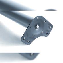 Kit de 4 patas de mesa regulables Emuca D. 60 x 830 mm de acero gris metalizado - Ítem3