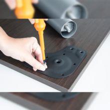 Kit de 4 patas de mesa regulables Emuca D. 60 x 830 mm de acero gris metalizado - Ítem4