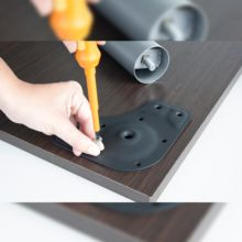 Emuca Patas para mesa, D. 60 mm, regulable 710-730 mm, Acero, Blanco, 4 ud. - Ítem5
