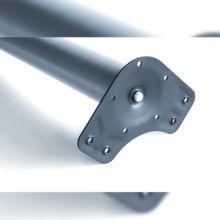 Kit de 4 patas de mesa regulables Emuca D. 60 x 710 mm de acero pintado níquel satinado - Ítem3
