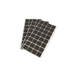 Emuca Fieltro adhesivo para muebles, cuadrado, 30x30 mm, 63 ud. - Ítem