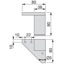 Kit de 4 pies para mueble Alumix1 Emuca altura 80 mm en gris metalizado - Ítem1